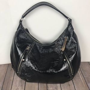 Cole Haan | Black Patent Leather Hobo Bag